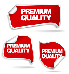 premium quality sticker vector image
