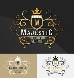 Premium Royal Crest Logo Design vector image