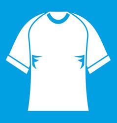 Raglan tshirt icon white vector