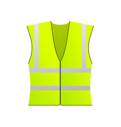 Safety jacket security yellow work uniform with vector
