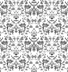 Seamless floral damask background vector image