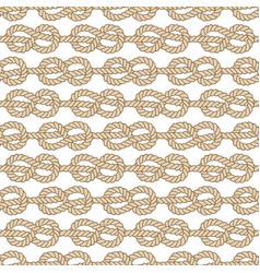 Seamless marine rope pattern figure 8 knot vector