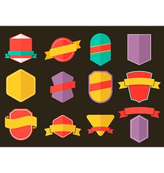 set badges in flat style vector image
