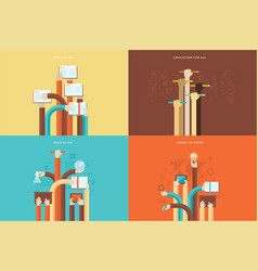 set flat design concepts vector image