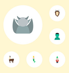 Set of character icons flat style symbols with vector