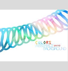 Several band colors shape scene vector