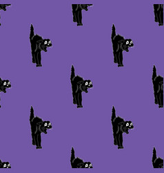simple halloween seamless pattern background with vector image