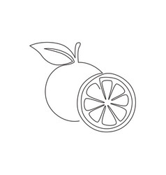 single continuous line drawing sliced and vector image