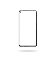 smartphone model with round cutout in display vector image