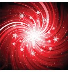 snowflake swirl vector image