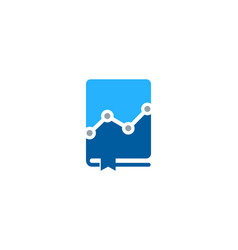 stats book logo icon design vector image