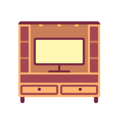 Television cabinets flat icon vector