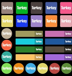 Turkey icon sign Set from twenty seven vector