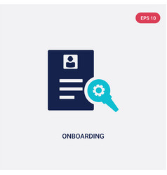 Two color onboarding icon from human resources vector