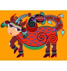 Ukrainian tribal art in karakoko style ethnic vector