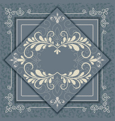 Vintage luxury background with abstract floral vector
