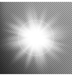 White glowing light burst effect eps 10 vector