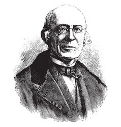 William lloyd garrison vintage vector
