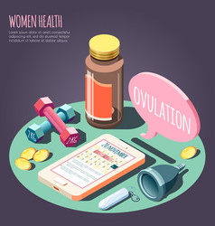 Women health isometric design concept vector