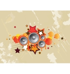Abstract colored musical background vector image