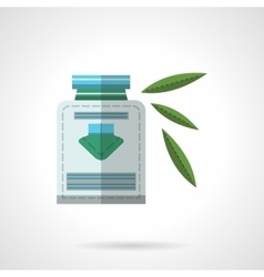 Herbal medicine flat color design icon vector image