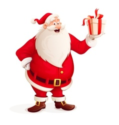 Merry Santa Claus with vector image