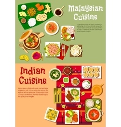 National indian and malaysian cuisine vector image