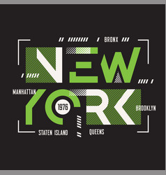 New york t-shirt and apparel geometric vector