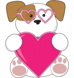 puppy love sunglasses vector image