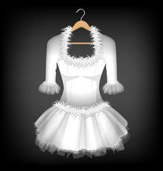 white dress vector image