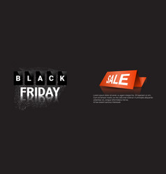 black friday horizontal banner shopping sale vector image