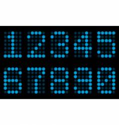 blue digits for matrix display vector image vector image