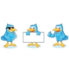 Blue Jay mascot happy vector image