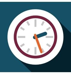 Clock over circle design vector image