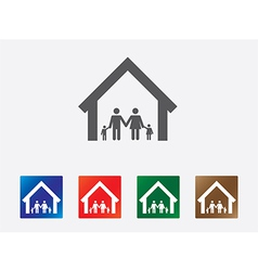 Family set icon vector image vector image