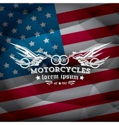 Vintage american motorcycle club label or badge vector