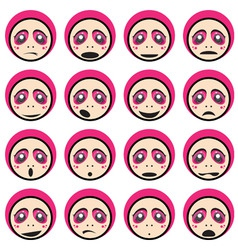 Face impressions vector