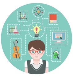 Genius Boy Concept vector image vector image