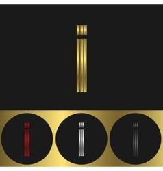 I Letter logo vector image vector image