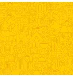 Line Yellow Camp Seamless Pattern vector image vector image