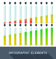 progress infographics statistics with interest vector image