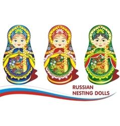 Russian nesting dolls vector image vector image