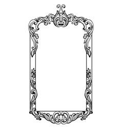 vintage imperial baroque mirror frame vector image