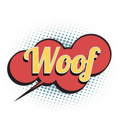 woof comic word vector image vector image