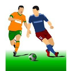 al 0214 football 03 vector image vector image