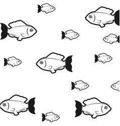 fish sea background symbol vector image