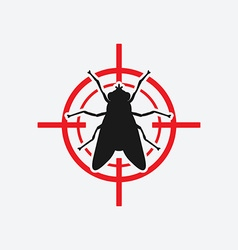 fly icon red target vector image vector image