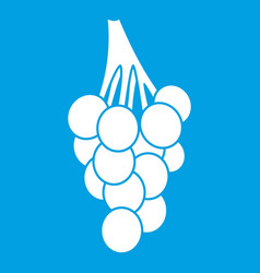 grapes icon white vector image vector image