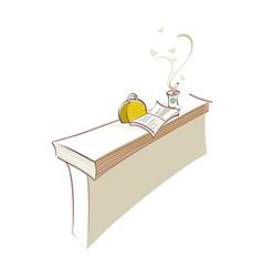 icon desk vector image vector image