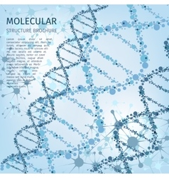 Molecule structure background for communication vector image vector image